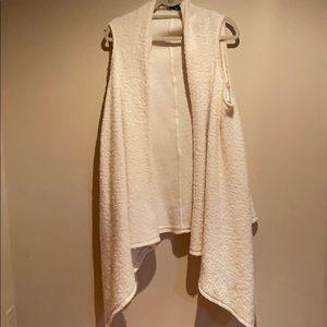 Zara drapes wool blend vest